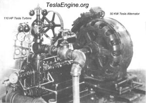 tesla turbine and 50 kw alternator