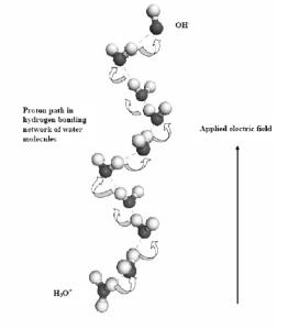 water molecule bonding